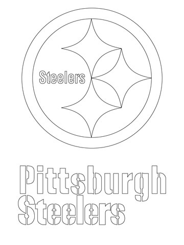 pittsburgh steelers logo coloring page free printable coloring pages