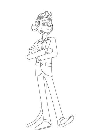 Roddy Is Waiting Patiently Coloring Page Free Printable