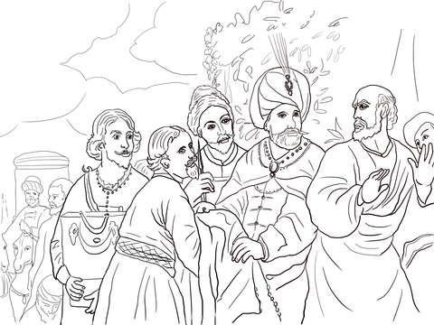 Elijah Chooses Elisha coloring page | Free Printable Coloring Pages | 360x480