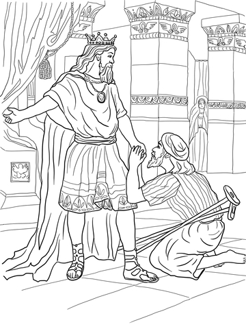 david helps mephibosheth coloring page free printable coloring pages