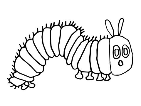 hungry caterpillar coloring page free printable coloring pages