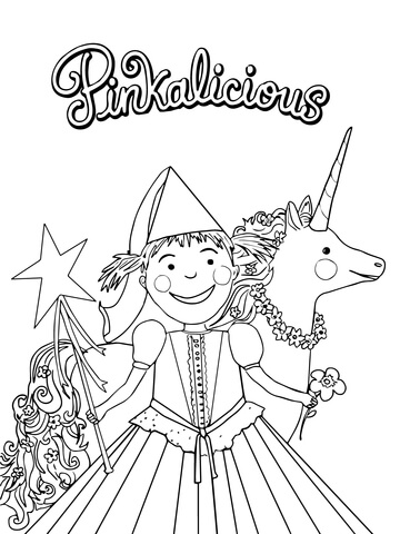 pinkalicious coloring pages # 1