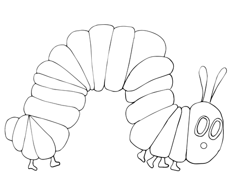 the very hungry caterpillar coloring pages # 2