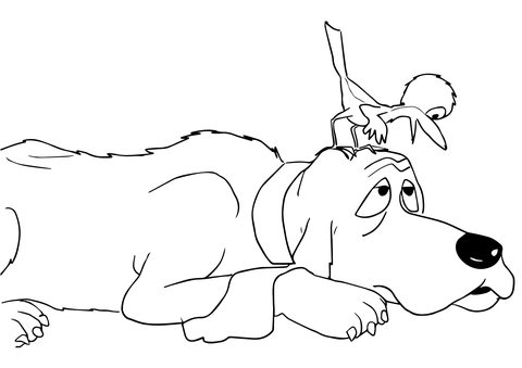 are you my mother baby bird said to dog coloring page free