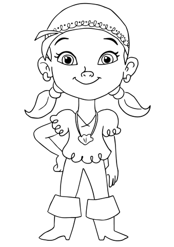 izzy pirate coloring page free printable coloring pages
