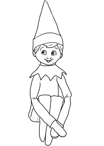 christmas elf on shelf coloring page free printable coloring pages