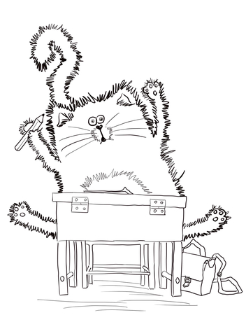 splat the cat back to school coloring page free printable