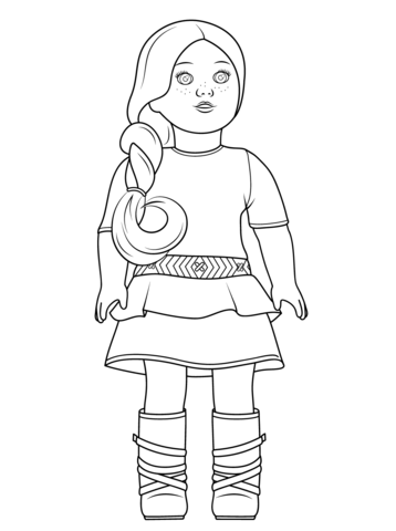american girl saige coloring page free printable coloring pages