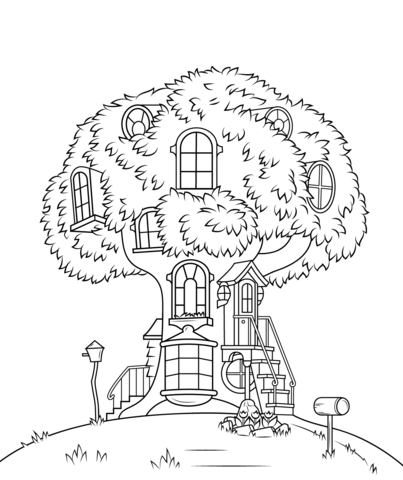 berenstain bears treehouse coloring pages png