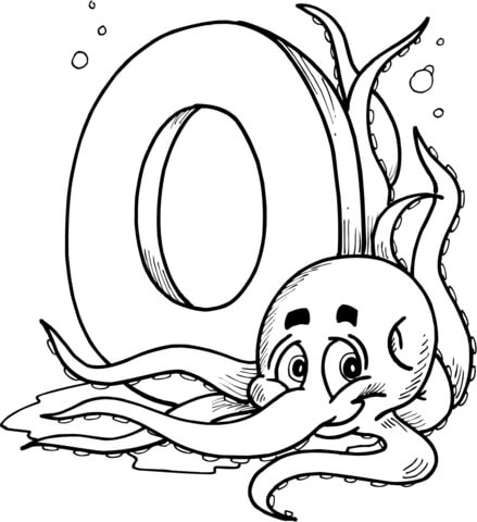 letter o is for octopus coloring page free printable coloring pages