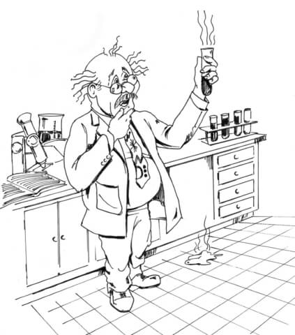 chemical scientist coloring page free printable coloring pages