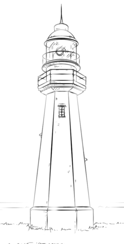 lighthouse coloring page free printable coloring pages