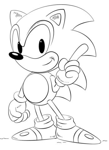Dibujos Para Colorear De Sonic Y Shadow On Log Wall