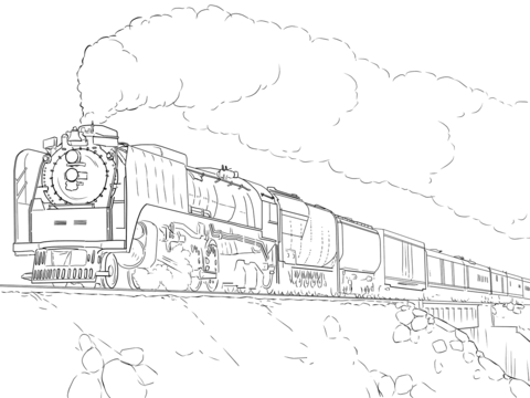union pacific train coloring page free printable coloring pages