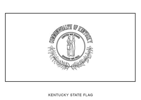 Flag Of Kentucky Coloring Page Free Printable Coloring Pages