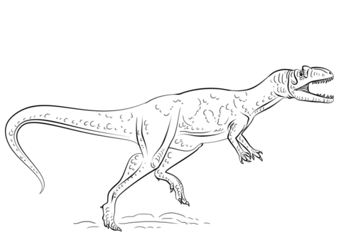 allosaurus coloring pages free coloring pages