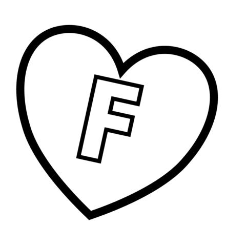 ausmalbild buchstabe f im herz ausmalbilder kostenlos zum