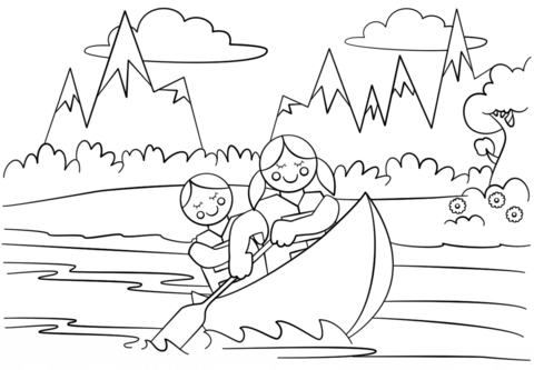girl scouts adventure coloring page free printable coloring pages