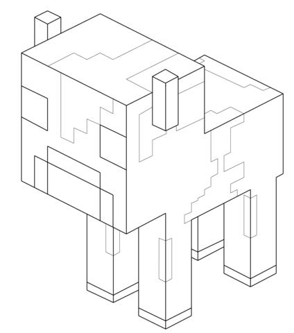 Coloriage Bb Vache Champimeuh De Minecraft