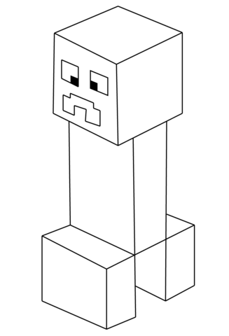Minecraft Creeper Coloring Page Free Printable Coloring