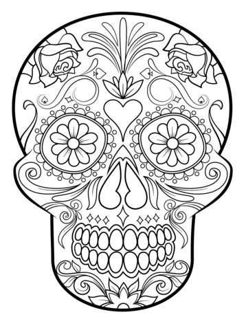 skull coloring pages skull colouring pages verdao co