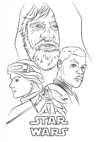 The Force Awakens Poster Coloring Page Free Printable