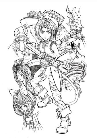 Coloriage Personnages Jouables De Final Fantasy IX