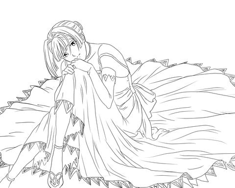 Ausmalbild Alice L Malvin Aus Dem Pumpkin Scissors Manga