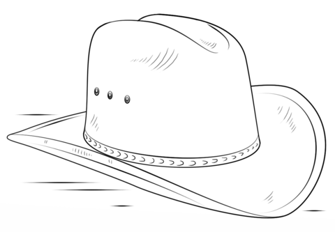 cowboy hat coloring page free printable coloring pages