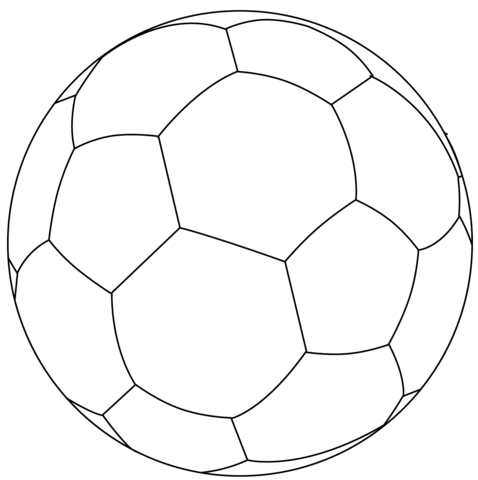 Football Ball Coloring Page Free Printable Coloring Pages