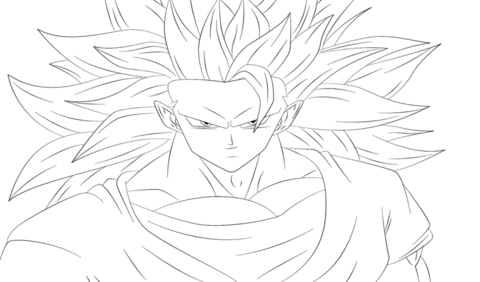 Goku From Dragon Ball Z Coloring Page Free Printable Coloring Pages