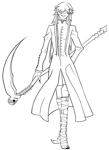 grim reaper coloring pages # 9