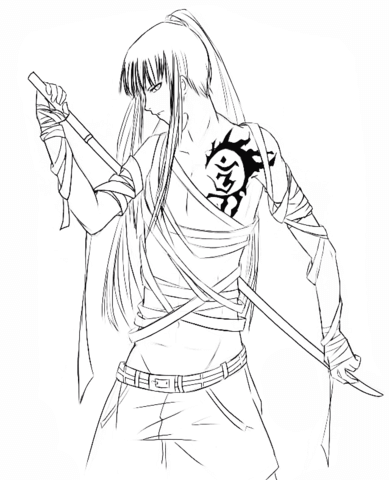 anime amp manga coloring pages free coloring pages