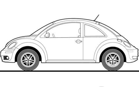 volkswagen coloring pages free coloring pages