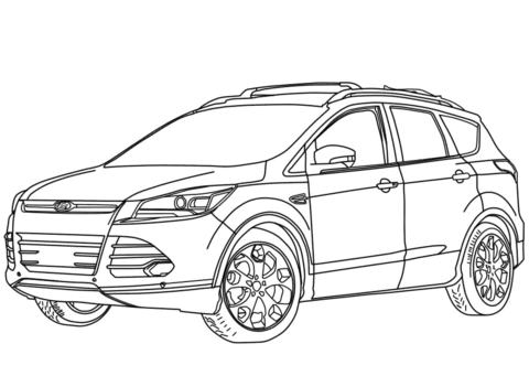 Coloriage 2014 Ford Escape Coloriages Imprimer Gratuits