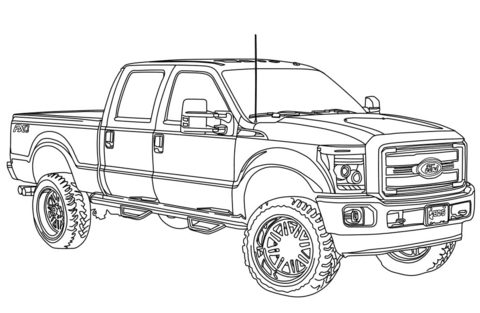 ford coloring pages free coloring pages