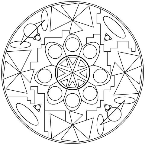 Abstrakt Mandala Mlarbok Gratis Mlarbilder Att Skriva Ut