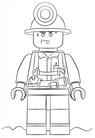 lego city miner coloring page free printable coloring pages
