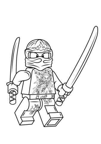 Coloring Pages Ninjago Jay Kids Page Lego Ninjago Coloring