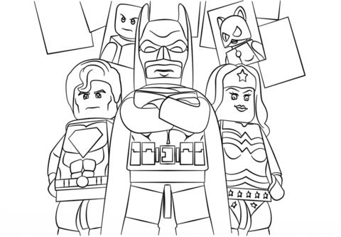 Lego Harley Quinn Coloring Pages Coloriage Superheros Lego Batman