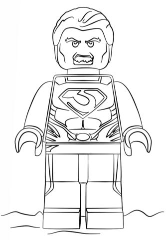 coloriage man of steel lego coloriages à imprimer gratuits