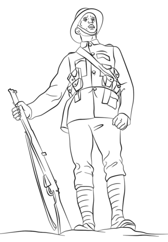 wwi british soldier free printable pages
