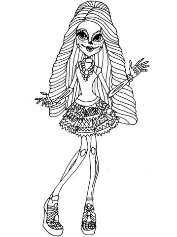 Skelita Calaveras Coloring Page Free Printable Coloring