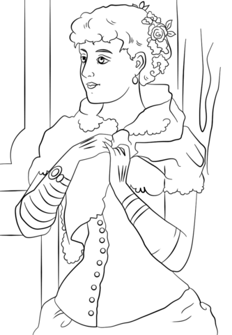 Victorian Woman Coloring Page Free Printable Coloring Pages