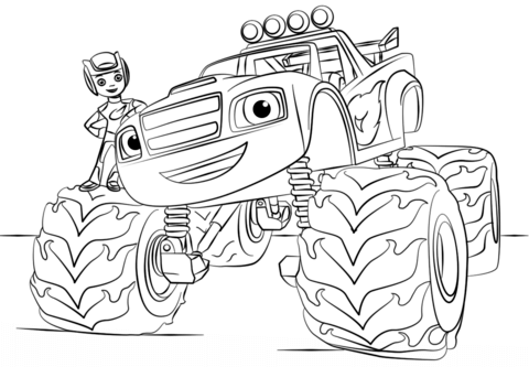 blaze monster truck coloring page free printable coloring pages