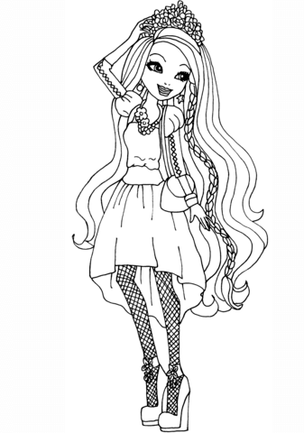 Ever After High Holly OHair Coloring Page Free