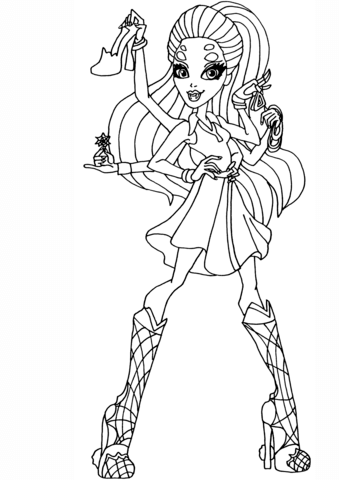 Monster High Coloring Pages Free Coloring Pages