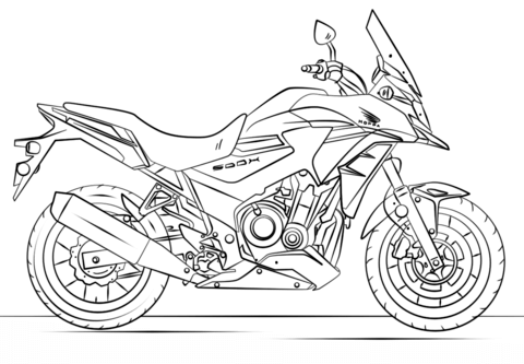 honda motorcycle coloring page free printable coloring pages
