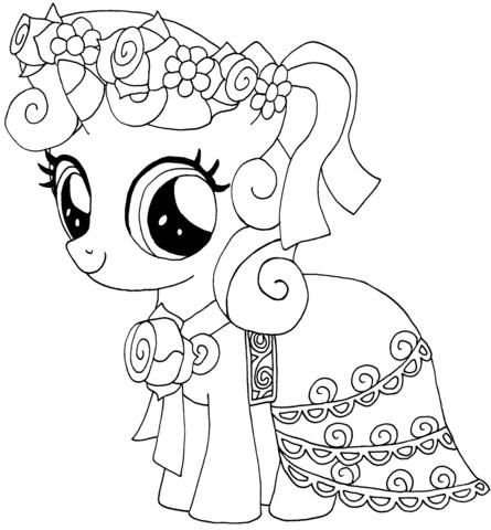 Ausmalbild My Little Pony Sweetie Belle Ausmalbilder