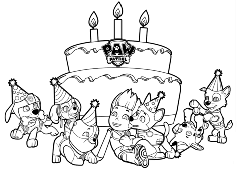 ryder 39 s birthday coloring page free printable coloring pages